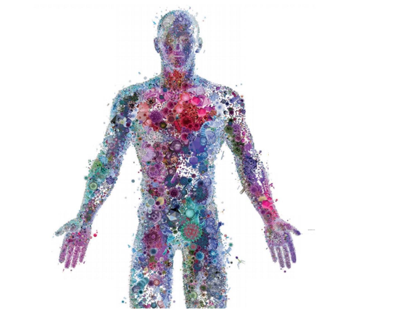 mens met bacterien