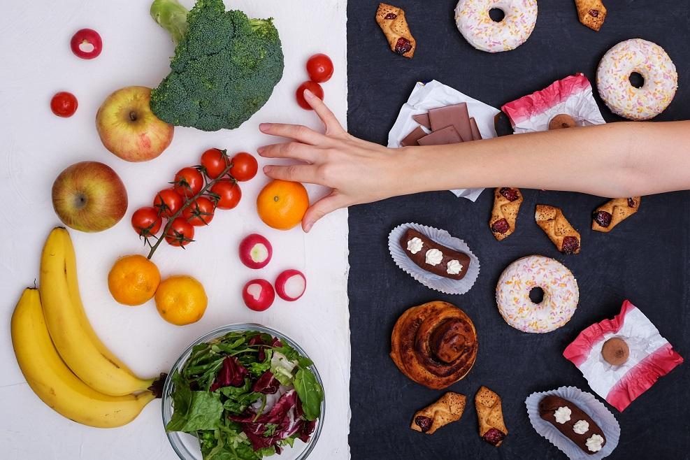 ongezonde en gezonde voeding