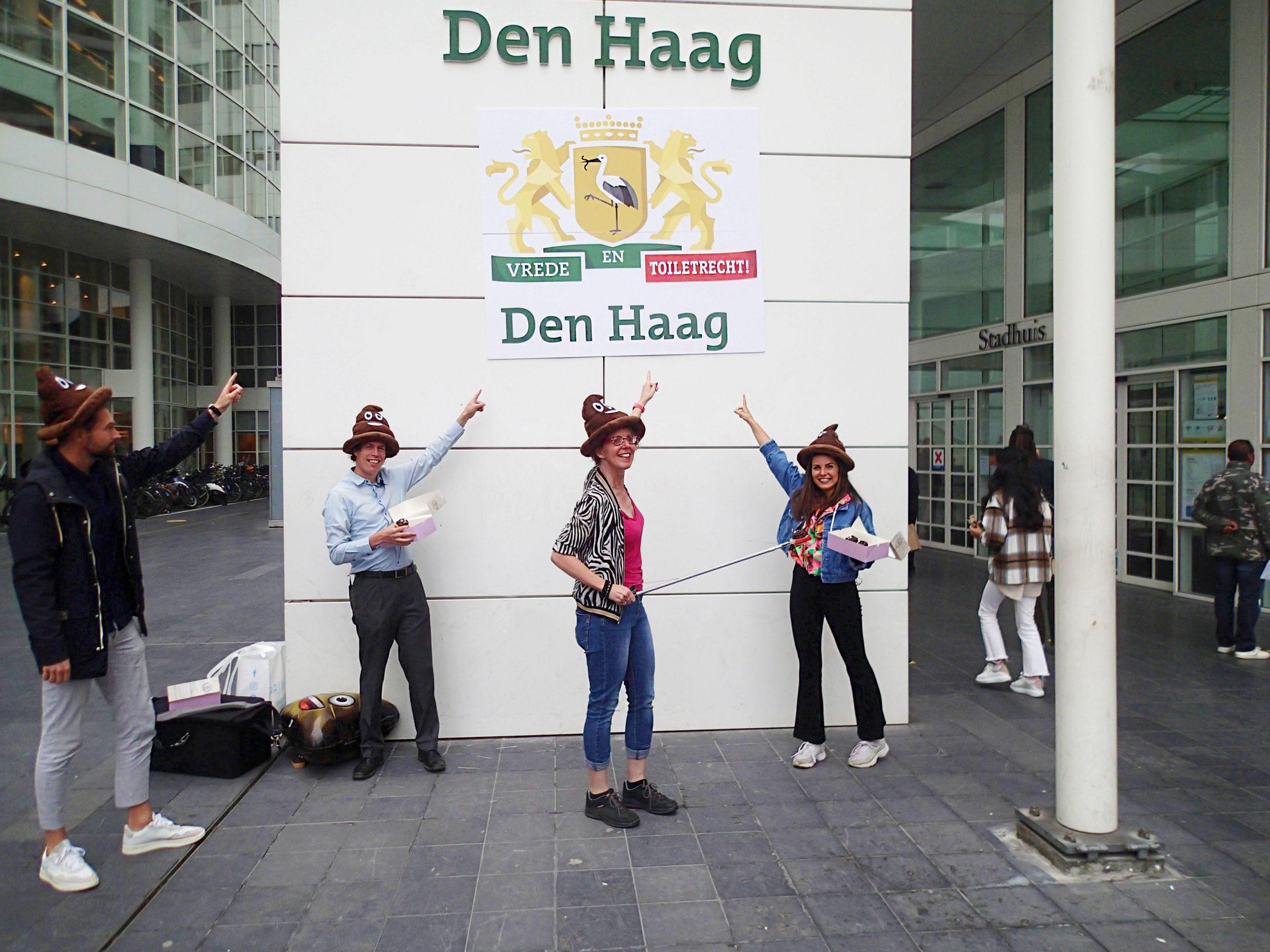 Foto van actie Den Haag voor tekort aan openbare toiletten