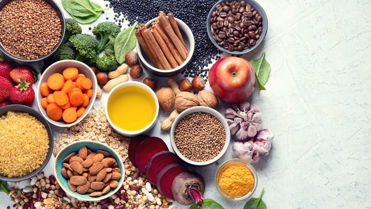 Foto's vezelrijke voeding